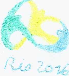 Logo Rio 2016: Lebe deine Leidenschaft Zeichnung: Sonja